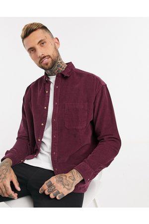 ASOS Camisa extragrande de pana en color estilo años 90 de -Violeta