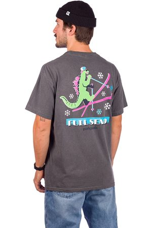 PARTY PANTS Dino Ripper Ski T-Shirt negro
