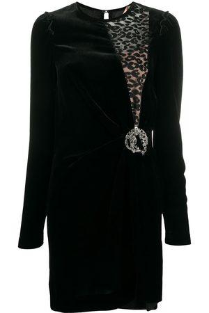 Nº21 Vestido con inserción de motivo de leopardo