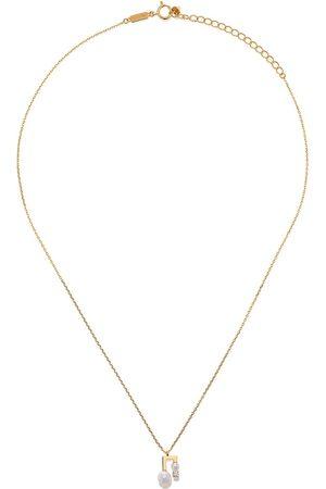 Tasaki Collar Balance Note Collection Line Akoya en oro amarillo de 18kt con diamante y perla
