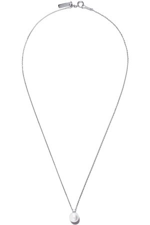 Tasaki Collar Basic Akoya en oro blanco de 18kt con diamante y perla