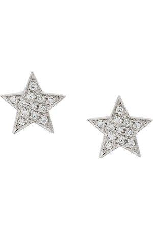 Dana Rebecca Designs Pendientes Julianne Himiko Star en oro blanco 14kt con diamantes