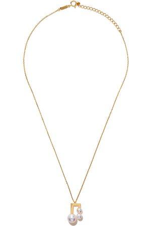 Tasaki Collar Balance Note Collection Line Akoya en oro amarillo de 18kt con perla