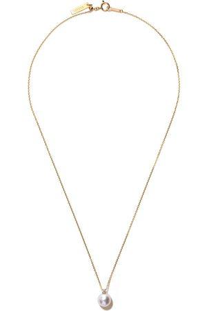 Tasaki Mujer Collares - Collar Basic Akoya en oro amarillo de 18kt con diamante y perla