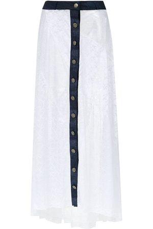 AMIR SLAMA Long lace skirt