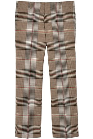 Burberry Check wool tailored trousers