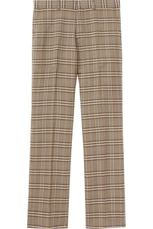 Burberry Prince of Wales check wool trousers