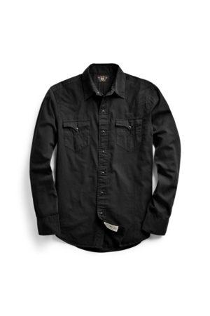 RRL Camisa western de sarga Slim Fit