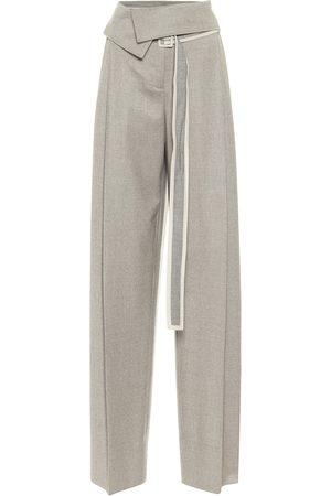 Stella McCartney Pantalones anchos de lana tiro alto