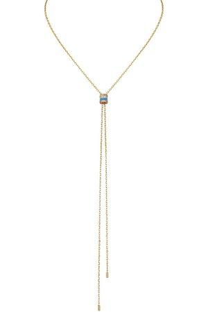 Boucheron Collar Quatre Blue Edition en oro amarillo de 18kt con diamantes