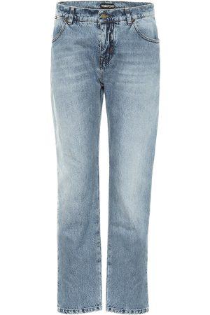 Tom Ford Jeans boyfriend de tiro medio