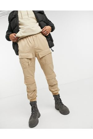 Sixth June Pantalones cargo en color beis de