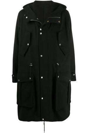 Balmain Hooded parka coat