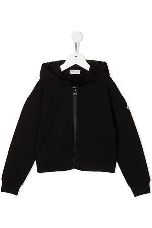 Moncler Sudaderas - Logo patch zip-up hoodie