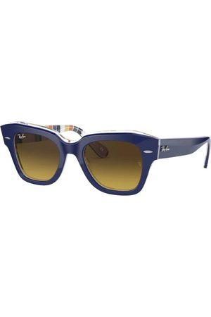 Ray-Ban Gafas de sol - State Street RB2186 132085 Blue ON Stripes Orange/Blue