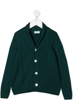 SIOLA Cable-knit buttoned cardigan