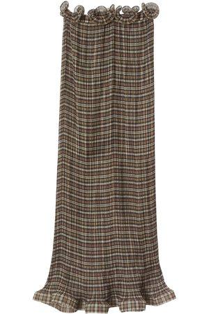 Burberry Falda de cuadros con detalle de volantes