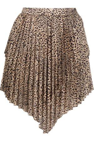 WANDERING Falda plisada a capas
