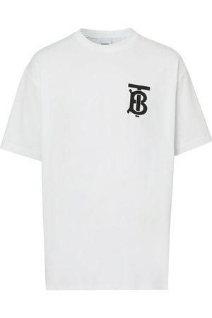 Burberry Camiseta oversize con monograma