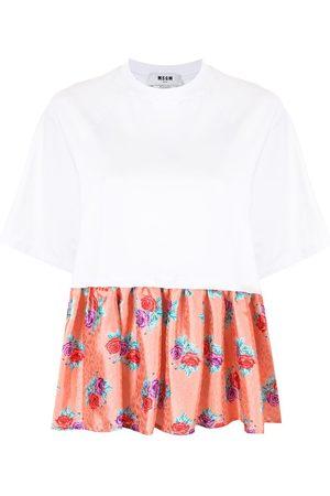 Msgm Camiseta con dobladillo floral