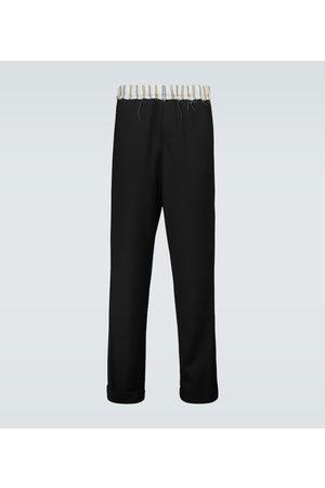 WALES BONNER Pantalones de lana virgen rectos