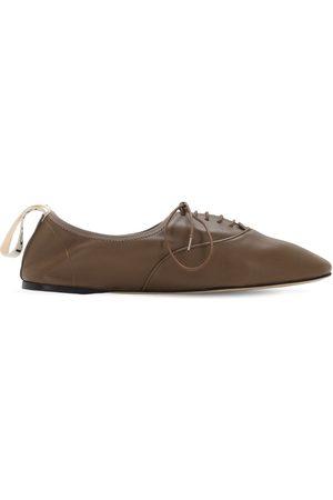 Loewe | Mujer Zapatos Planos Con Cordones De Piel Suave 10mm 35