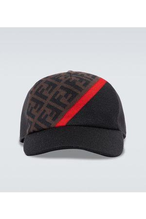 Fendi Gorra de lana con logo FF