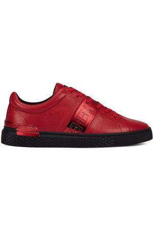 ED HARDY Zapatillas Stripe low top-metallic red/black para mujer