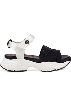 ED HARDY Mujer Sandalias - Sandalias Overlap sandal black/white para mujer