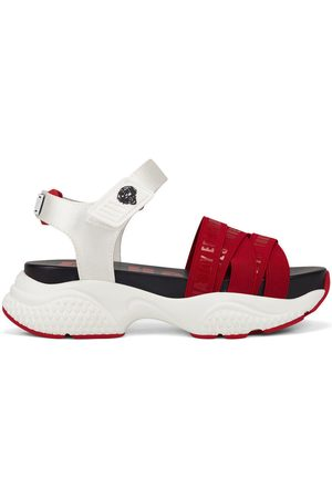 ED HARDY Sandalias Overlap sandal red/white para mujer