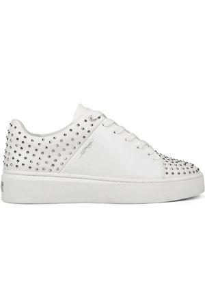 ED HARDY Zapatillas Stud-ed low top white/silver para mujer