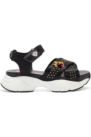 ED HARDY Sandalias Flaming sandal black para mujer