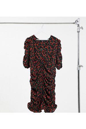 Wednesday's Girl Vestido corto de tarde con estampado de cerezas de
