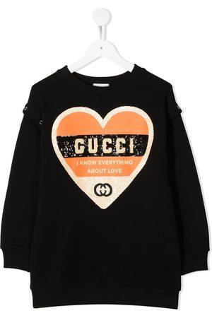 Gucci Kids Heart sequinned sweatshirt