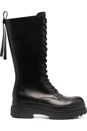 RedValentino Lace-up mid-calf boots