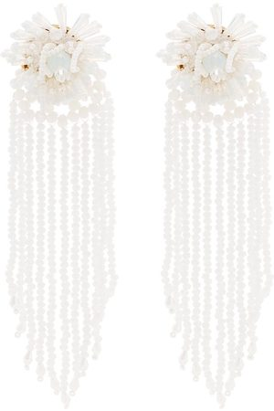 MaryJane Claverol Beaded pendant earrings