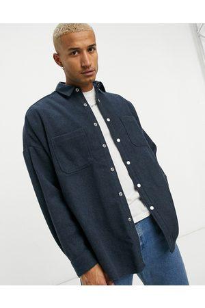 ASOS Camisa extragrande de mezcla de lana de