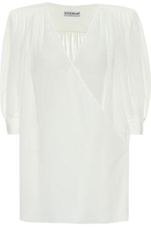 Givenchy Top de crepé de seda de china
