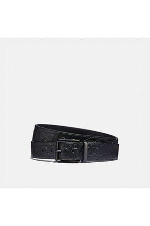 Coach Hombre Cinturones - Cinturón reversible cortado a medida con hebilla de rodillo de 38 mm - Size 42