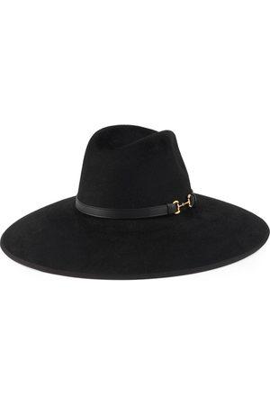 Gucci Sombrero de fieltro de ala ancha con Horsebit