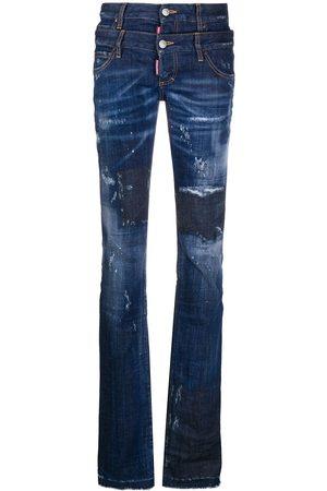 Dsquared2 Mujer Slim - Vaqueros slim con cintura doble