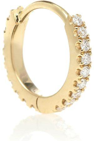 Maria Tash Argolla solitaria Eternity de oro de 18 ct con diamantes