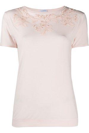 La Perla Mujer Camisetas de interior - Camiseta con aplique floral