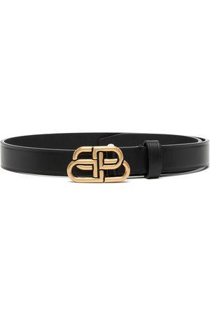 Balenciaga Cinturón fino con motivo BB