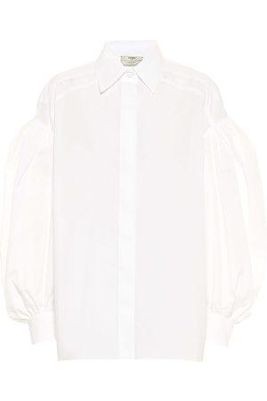 Fendi Camisa de popelín de algodón