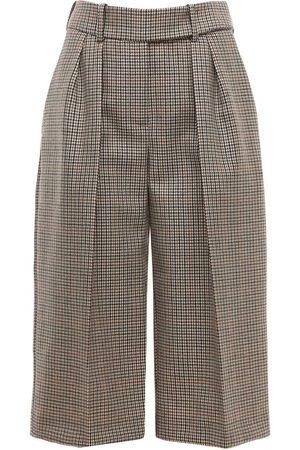 ALEXANDRE VAUTHIER | Mujer Shorts Bermuda De Lana Principe De Gales /rojo 34