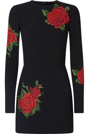 Dolce & Gabbana Mujer De punto - Vestido con bordado de punto de cruz