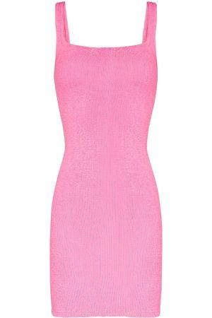 Hunza G Mujer De punto - Vestido de punto ajustado sin mangas