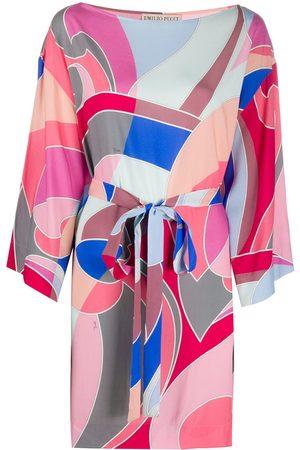 Emilio Pucci Vestido de playa con estampado abstracto