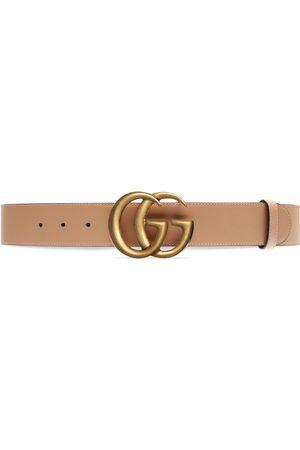 Gucci Mujer Cinturones - Cinturón ancho GG Marmont de piel